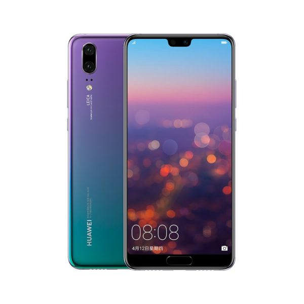 Huawei P20 Smartphone - 6GB ROM, 64GB RAM, 5.8 Inch Display, 2244*1080 Resolution, Android 8.1, Kirin 970, Dual AI Cam (Aurora) 1