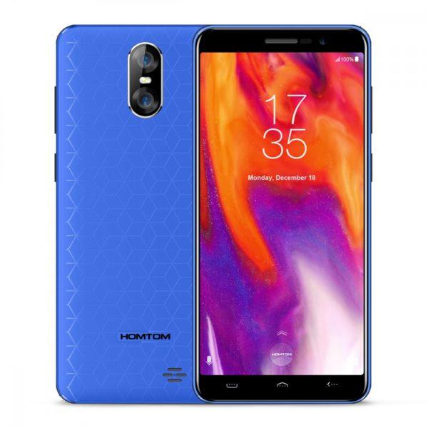 HOMTOM S12 MT6580 Quad Core Android 6.0 5.0-Inch 18:9 Screen 1GB RAM 8GB ROM Smartphone - Blue 1