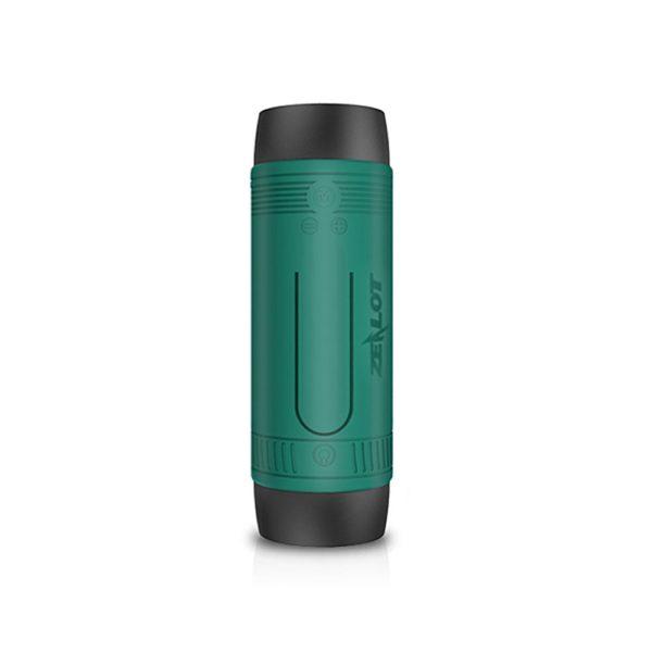 ZEALOT S1 Cycling Stereo Wireless Bluetooth Speaker Subwoofer LED Flashlight FM Radio 4000mAh Battery TF Card Play - Green 1