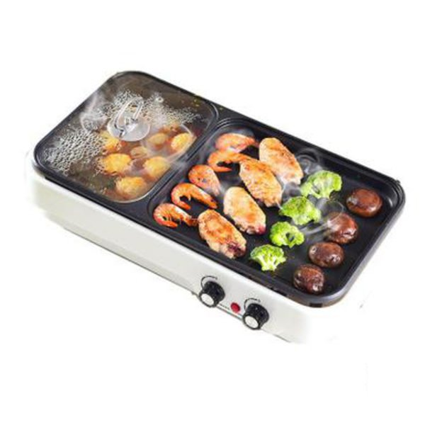 Electric Baking Pan Barbecue Hot Pot Non Stick BBQ Grill Oven Kitchen Cookware 1