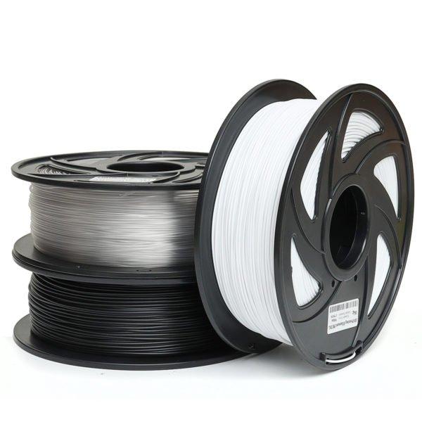 1KG 1.75mm PETG Filament Black White or Nude Color New Filament for 3D Printer 1