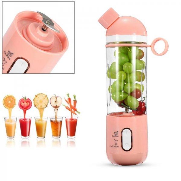 400ml USB Electric Fruit Juicer Smoothie Blender Portable Travel Coffee Maker Bottle Juice Cup 1