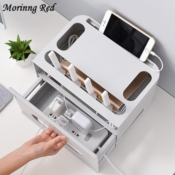 Double Layers Drawer Type WIFI Router Storage Box 1