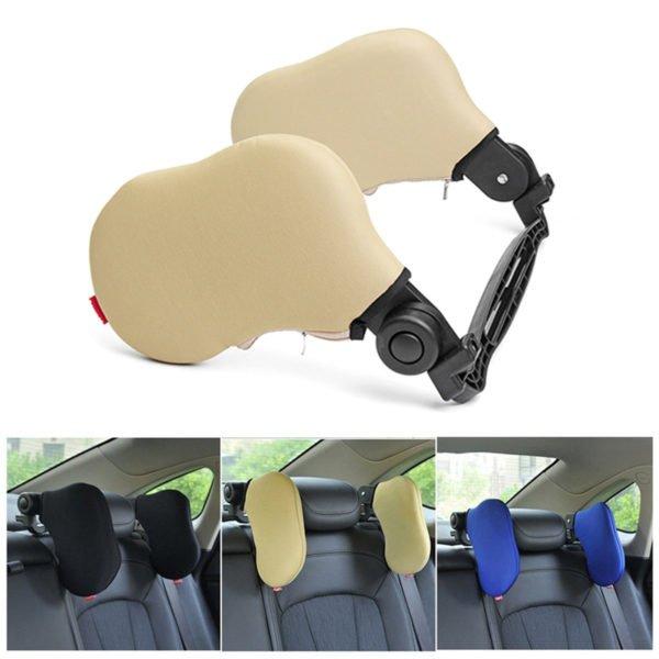 Outdoor Car Seat Headrest Memory Foam Pillow Head Neck Rest Support Cushion 1
