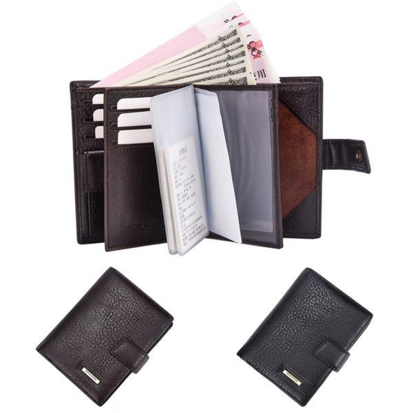 Men RFID Blocking PU Leather Wallet Passport Card Holder Money Coin Purse 1