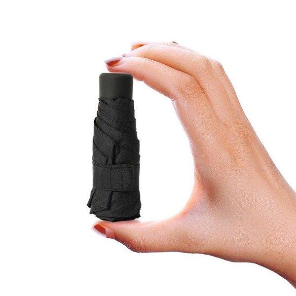 Outdoor 1-2 People Portable Mini Five Folding Umbrella Rain Waterproof Anti-UV Sunshade Pocket Parasol 1