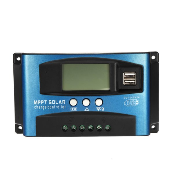 30/40/50/60/100A MPPT Solar Controller LCD Solar Charge Controller Accuracy Dual USB Solar Panel Battery Regulator 1