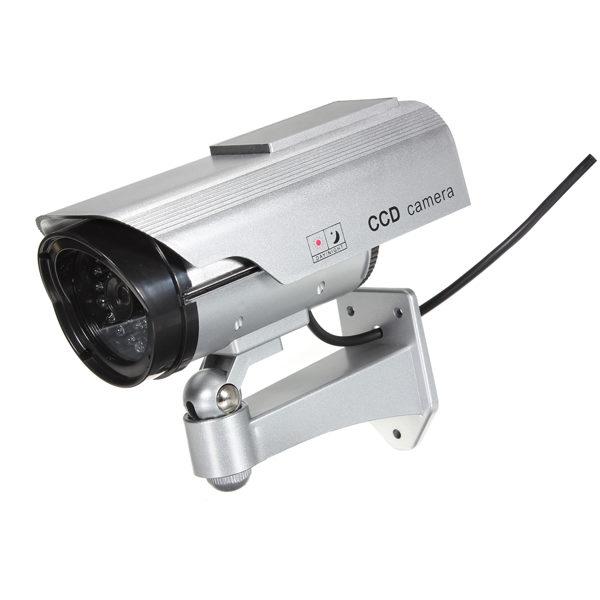 Solar Power Fake CCTV Security Surveillance Outdoor Flash LED Camera 1