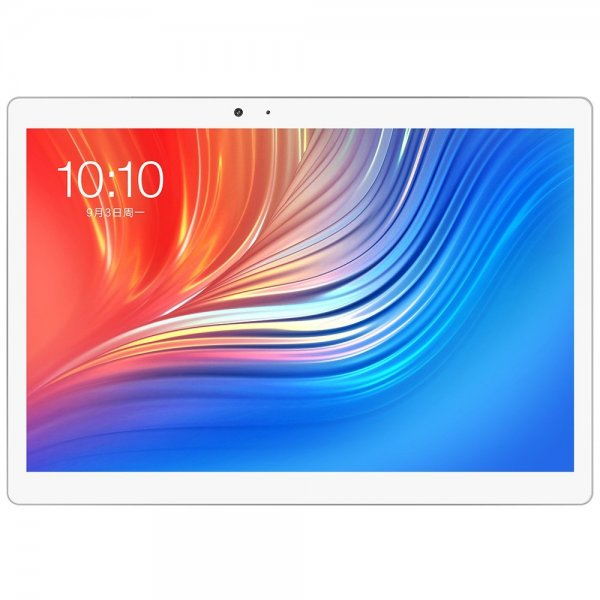 Teclast T20 4G Phablet Android 7.1 10.1 inch MT6797X ( X27 ) Deca Core 4GB RAM 64GB eMMC ROM Fingerprint Recognition 13.0 MP Double Cameras Bluetooth 4.0 Type-C Dual WiFi (SILVER) 1