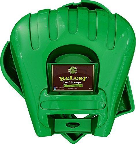 ReLeaf Leaf Scoops: Ergonomic, Large Hand Held Rakes for Fast Leaf & Lawn Grass Removal 1