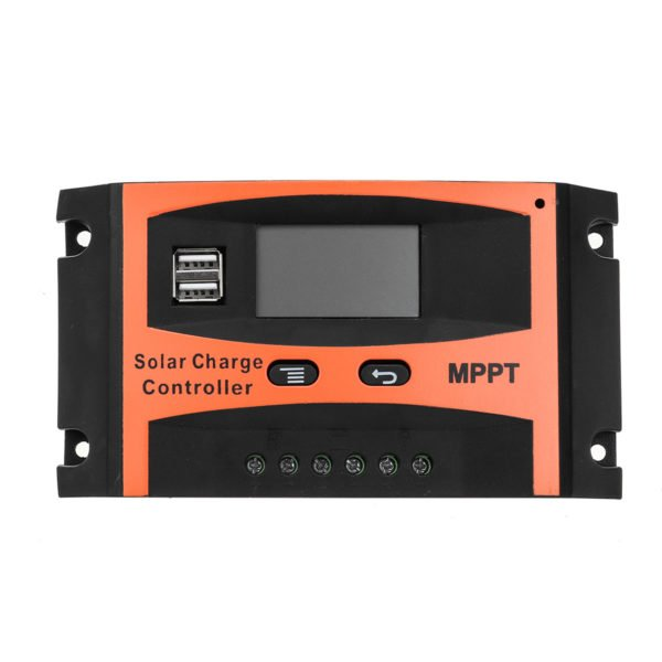 30A/40A/50A/60A MPPT Solar Charge Controller 12V/24V LCD Accuracy Dual USB Solar Panel Battery Regulator Built-in Timer 1