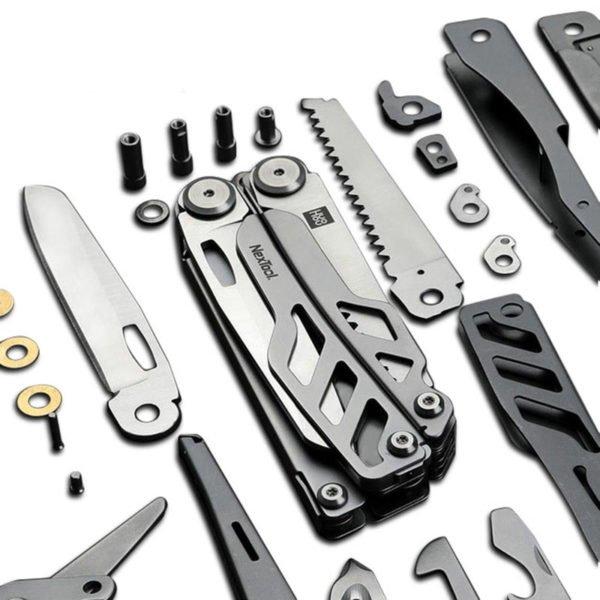 HUOHOU Multi-function Cutter 15 Functions Folding Bottle Opener Screwdriver / Pliers / Scissor / Wood Saw Tools Kit from xiaomi youpin 1