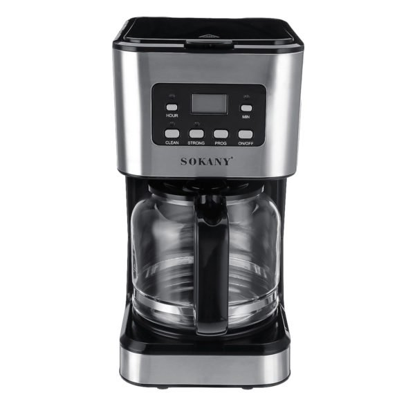 220V Coffee Maker 12 Cups 1.5L Semi-Automatic Espresso Making Machine Stainless Steel 1