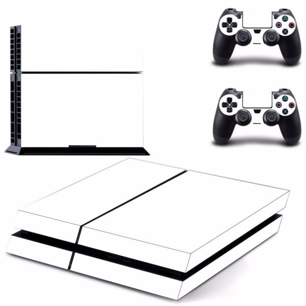 White Skin Sticker for PS4 Play Station 4 Console 2 Controller Protector Skin 1