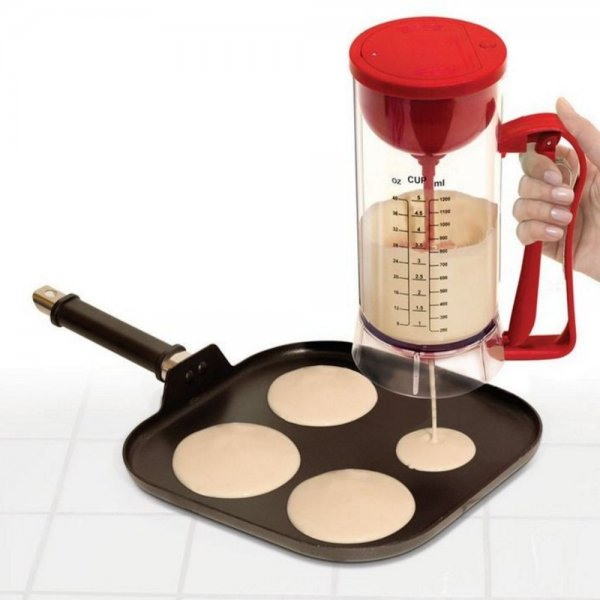 Cordless Electric Pan Cake Cup Cake Waffles Batter Mixer Dispenser Maker Machine 1