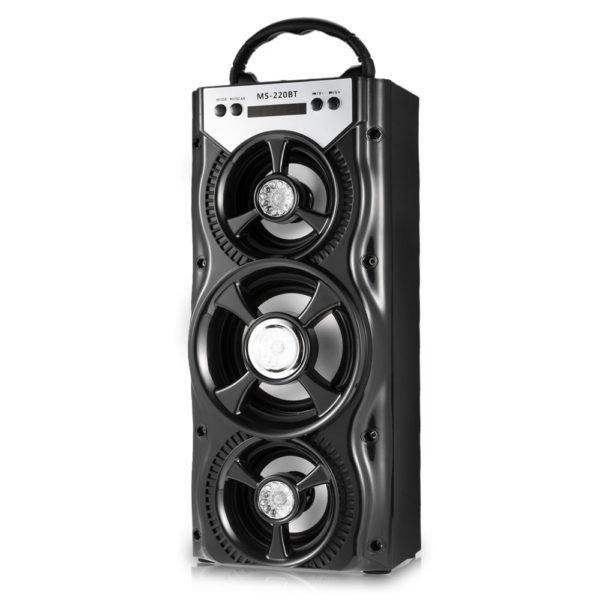 GBTIGER MS - 220BT - A Portable Bluetooth Speaker FM Radio (BLACK) 1