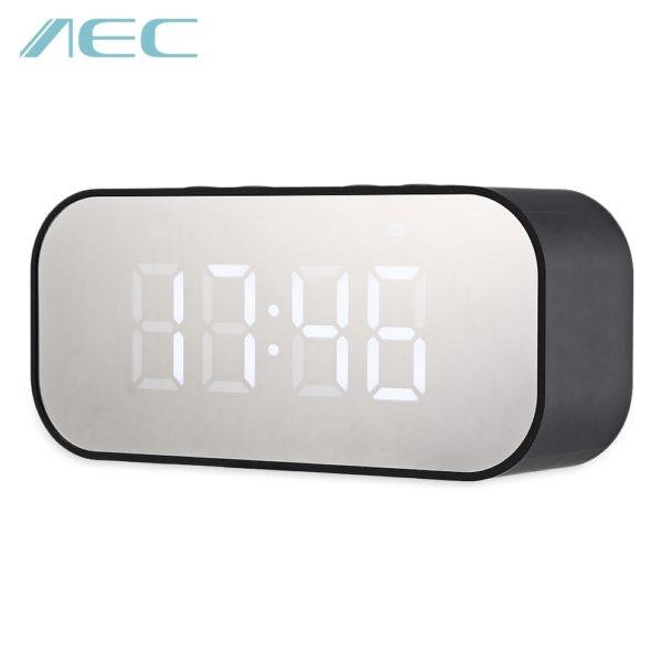 AEC BT501 Alarm Clock Wireless Bluetooth Speaker LED Display (BLACK) 1