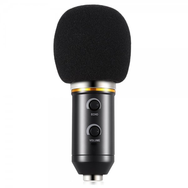 BM - 300FX Audio Sound Recording Condenser Microphone with Foldable Tripod (BLACK) 1