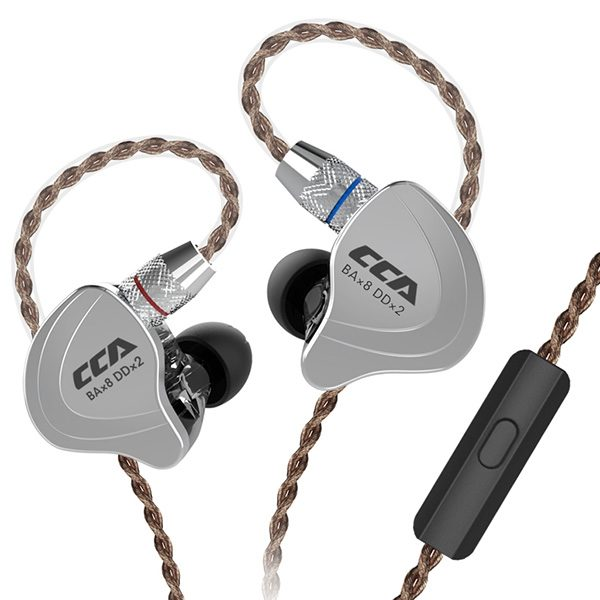 CCA C10 4BA+1DD Hybrid In-ear Earphone HiFi Sports Earbuds with Detachable Upgraded Cable 1