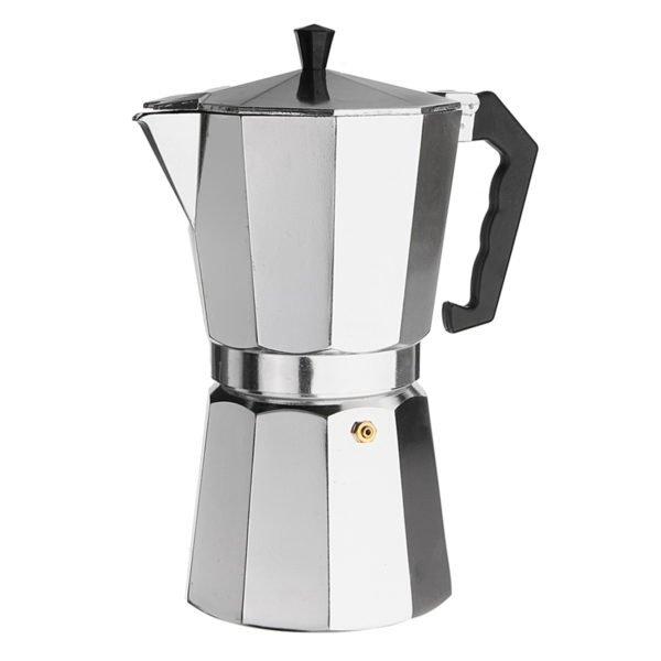 12Cups 600ML Silver Aluminum Moka Pot Octagonal Espresso Coffee Cup Grinder Stove Percolator 1