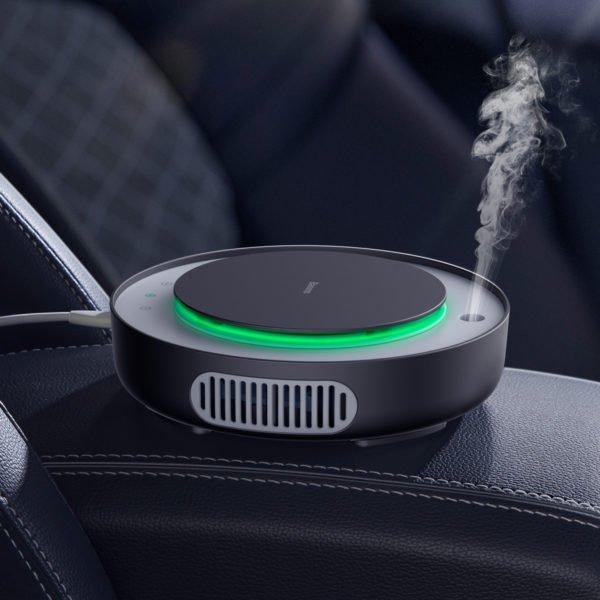 Baseus Car Air Purifier Freshener Mini Electric Auto Air Ionizer Cleaner Humidifier For Home Office Car Vaporizer Air Fresher 1