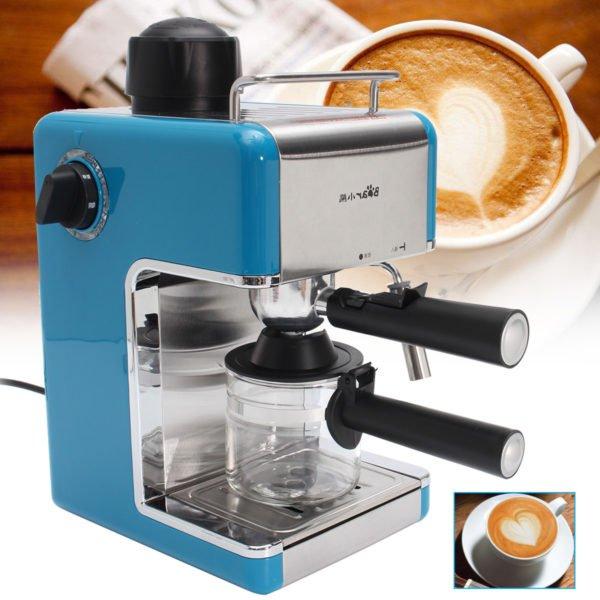 Stainless Steel Kitchen Steam Espresso Cappuccino Latte Coffee Maker Machine 1