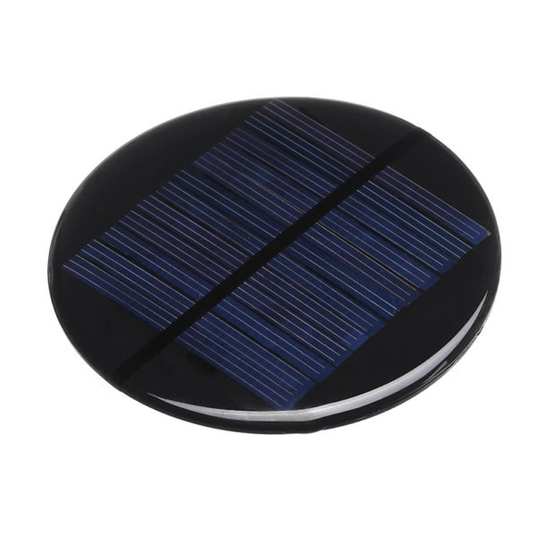 6pcs Φ80MM 6V 2W Round Style Polycrystalline Solar Panel Epoxy Board 1