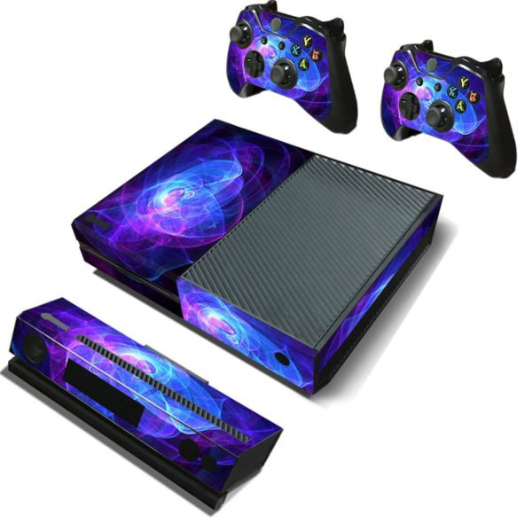 Purple Protective Vinyl Decal Skin Stickers Wrap Cover For Xbox One Game Console Game Controller Kinect 1