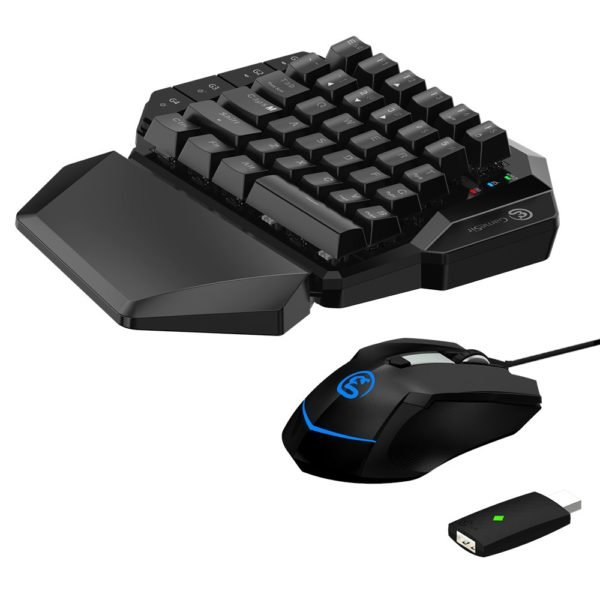 Gamesir VX AimSwitch Keyboard Mouse Gamepad Converter Single Hand Mechanical Keyboard For PS4/PS3/Xbox One/Nintendo Switch/PC 1