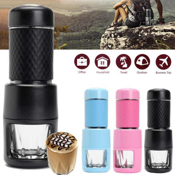 Portable Coffee Maker Travel Handheld Mini Manual Espresso Machine For Outdoor Camping Home Use 1