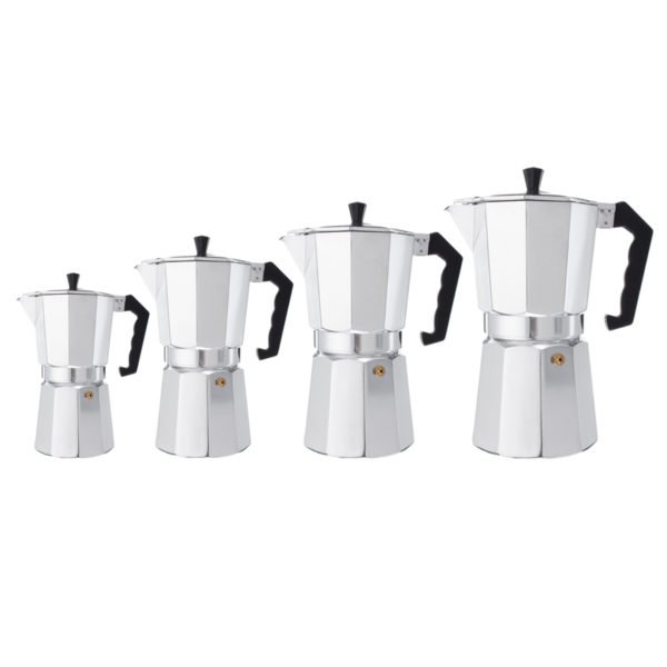 3/6/9/12 Cups Aluminum Espresso Moka Percolator Portable Coffee Maker Stovetop Home DIY 1
