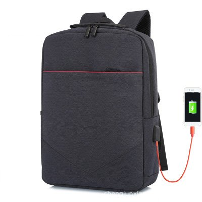 FLAMEHORSE Laptop Multifunctional Pure Color Business Casual Backpack USB Charging Trolley Bag 1
