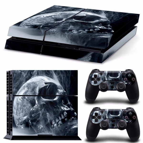 Skull Skin Style Sticker For PS4 Play Station 4 Console 2 Controllers Vinyl Decal 1