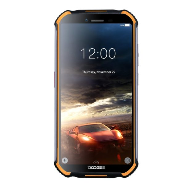"DOOGEE S40 4G Network Rugged Mobile Phone 5.5"" Screen 4650mAh MT6739 Quad Core 2GB RAM 16GB ROM Android 9.0 Smartphone Orange 1"