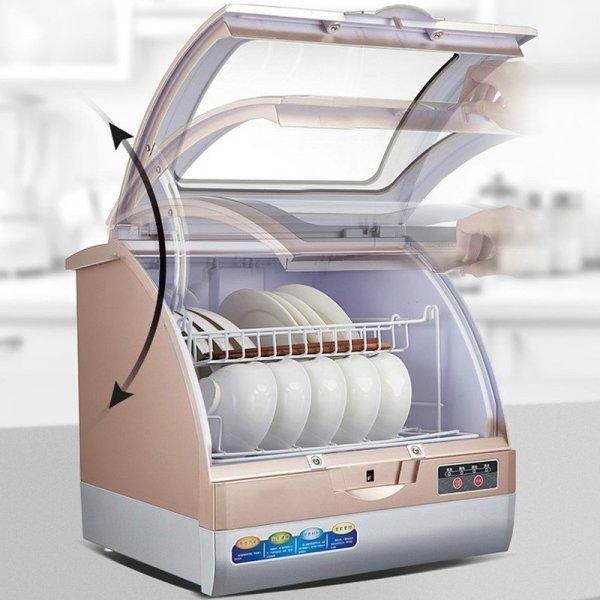800W Intelligent automatic mini dishwasher 1