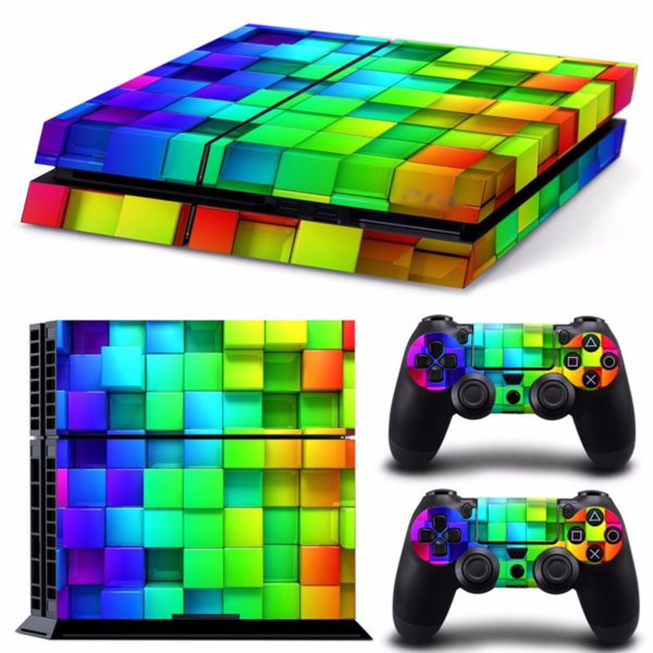 Lattice Style Vinyl Skin Decal For PS4 Play Station 4 Console and 2 Controllers 1