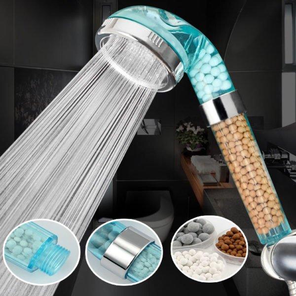 Handheld Negative Ion SPA Pressurize Shower Head Bathroom Healthy Water Saving Spray Nozzle 1