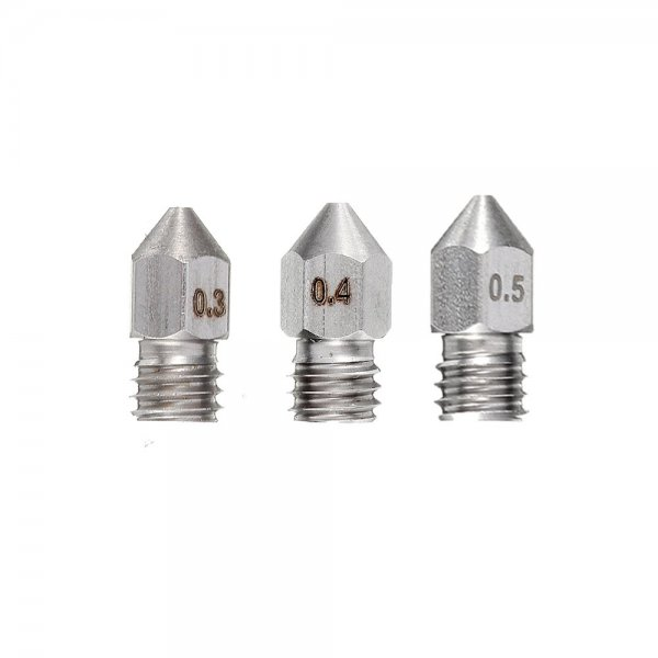 0.2/0.3/0.4mm 1.75mm Stainless Steel Nozzle for Prusa i3 3D Printer Part 1