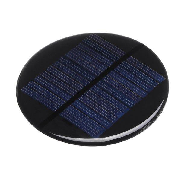 3pcs Φ80MM 6V 2W Round Style Polycrystalline Solar Panel Epoxy Board 1
