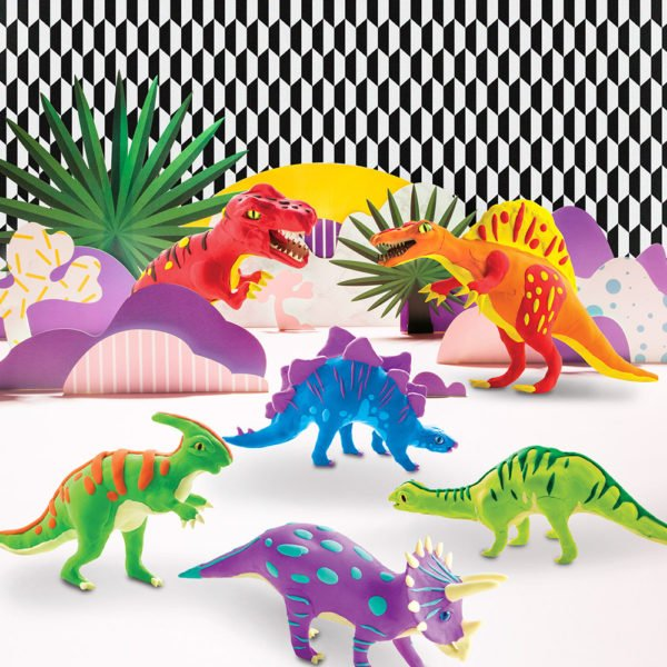 Robotime Clay Dinosaur Series 3D Puzzle Modeling Clay Children's Manual DIY Rubber Color Mud Toys 1