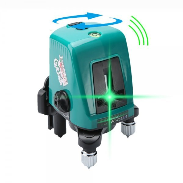 Foucault FC-435AG Mini Infrared Laser Level with Oblique Function Line Projector 2 Line 1 Brightening Point Green Light 1