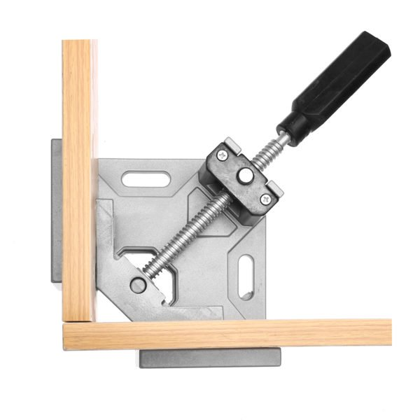 Drillpro Aluminum Alloy 90 Degree Right Angle Clamp Single Handle Corner Frame Clamp Clip Woodworking Tools 1