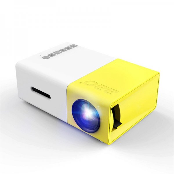 YG-300 LCD LED Projector 400-600 Lumens 320x240 800:1 Support 1080P Portable Office Home Cinema 1