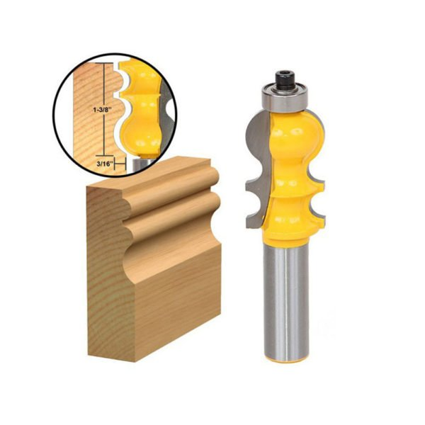 Drillpro 1/2 Inch Shank Molding Router Bit Trimming Wood Milling Cutter For Woodworking 1