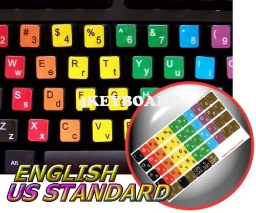LEARNING ENGLISH COLORED KEYBOARD STICKER (LOWER&UPPER) 1