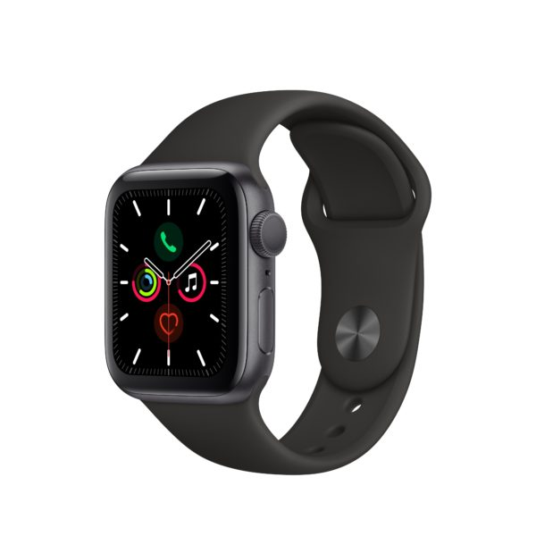 Apple Watch Series 5 GPS, 40mm Space Gray Aluminum Case with Black Sport Band - S/M & M/L 1