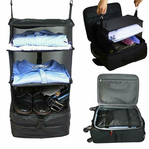 Portable shelf trend luggage organiser- live out of your suitcase 1