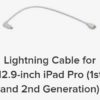 structure sensor mark 2 lightning cable for 12.9-inch ipad pro 1st and 2nd Gen
