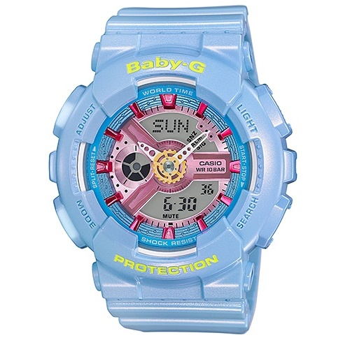 Casio Baby-G Analogue/Digital Blue Female Watch BA110CA-2A.