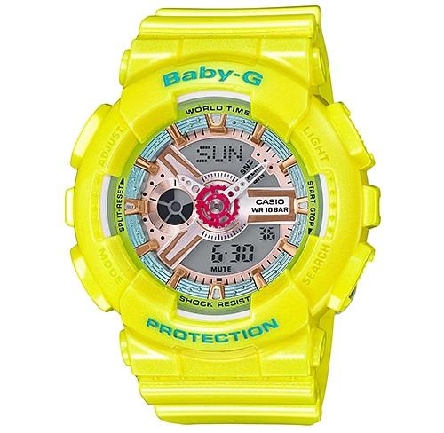 Casio Baby-G Analogue/Digital Yellow Female Watch BA110CA-9A